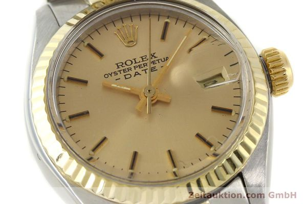 Used luxury watch Rolex Lady Date steel / gold automatic Kal. 2030  | 143000 02