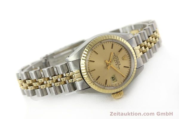 Used luxury watch Rolex Lady Date steel / gold automatic Kal. 2030  | 143000 03