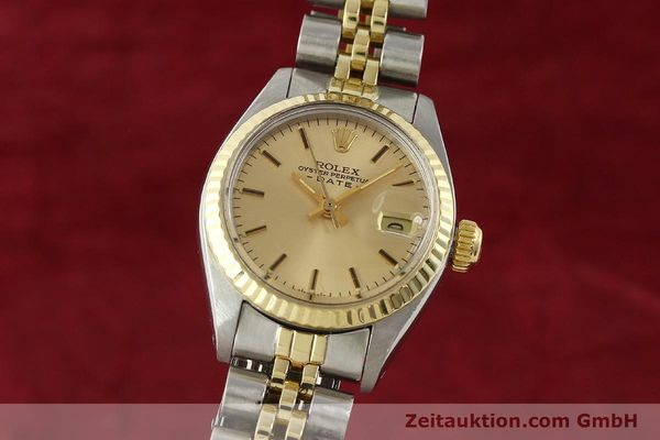 Used luxury watch Rolex Lady Date steel / gold automatic Kal. 2030  | 143000 04