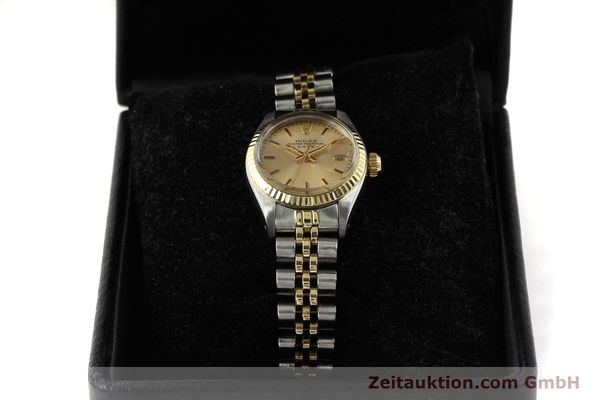 Used luxury watch Rolex Lady Date steel / gold automatic Kal. 2030  | 143000 07