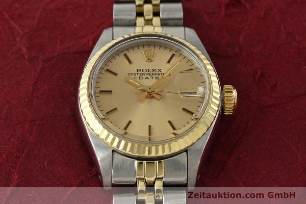 Used luxury watch Rolex Lady Date steel / gold automatic Kal. 2030  | 143000 16