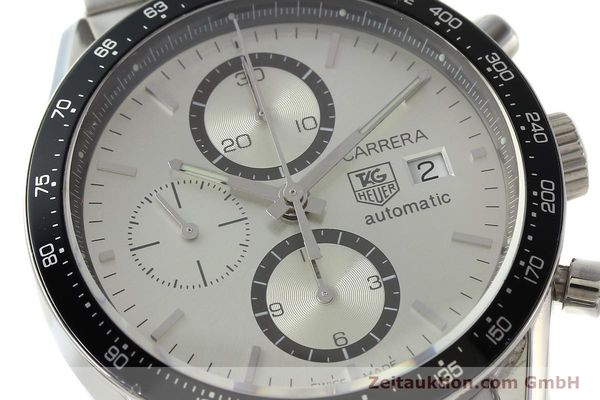 Used luxury watch Tag Heuer Carrera chronograph steel automatic Kal. 16 ETA 7750 Ref. CV2011-0  | 143001 02