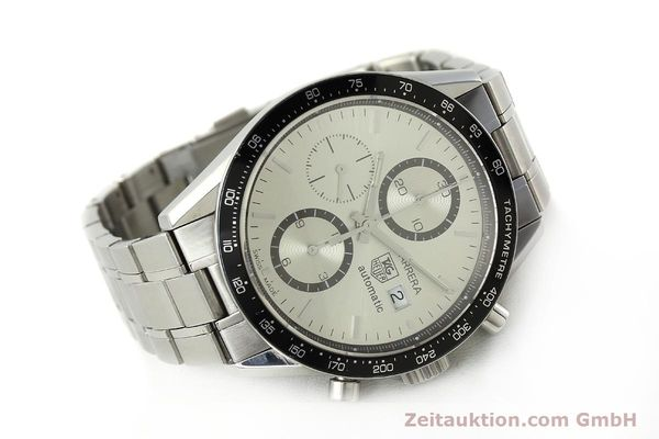 Used luxury watch Tag Heuer Carrera chronograph steel automatic Kal. 16 ETA 7750 Ref. CV2011-0  | 143001 03