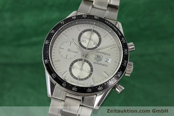 Used luxury watch Tag Heuer Carrera chronograph steel automatic Kal. 16 ETA 7750 Ref. CV2011-0  | 143001 04