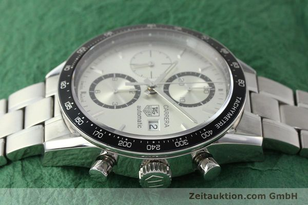 Used luxury watch Tag Heuer Carrera chronograph steel automatic Kal. 16 ETA 7750 Ref. CV2011-0  | 143001 05