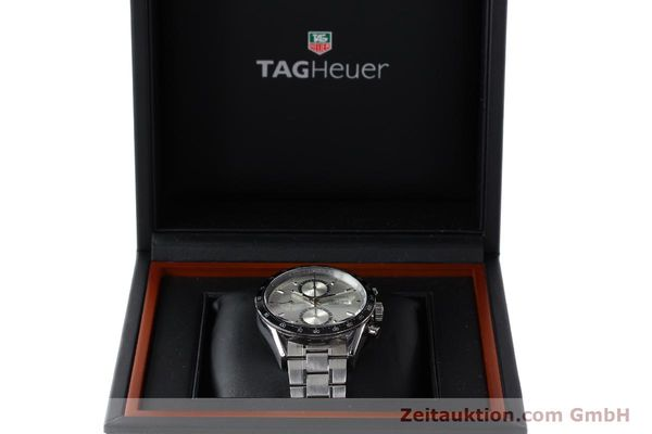 Used luxury watch Tag Heuer Carrera chronograph steel automatic Kal. 16 ETA 7750 Ref. CV2011-0  | 143001 07