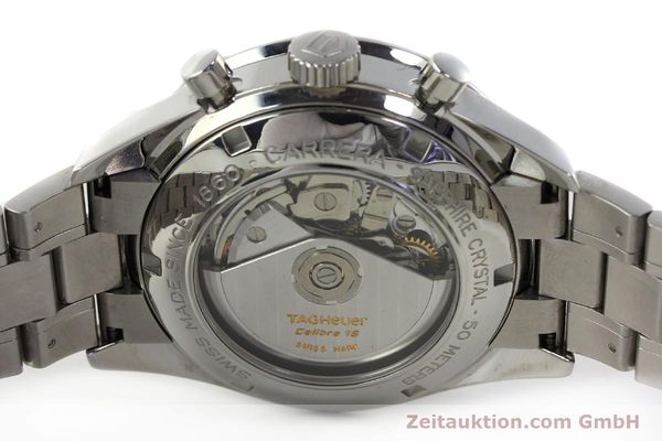 Used luxury watch Tag Heuer Carrera chronograph steel automatic Kal. 16 ETA 7750 Ref. CV2011-0  | 143001 09