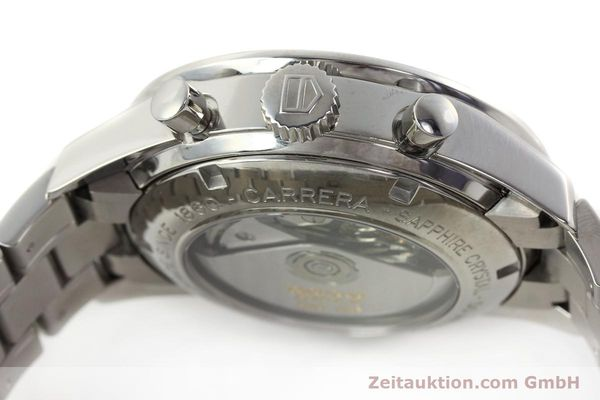 Used luxury watch Tag Heuer Carrera chronograph steel automatic Kal. 16 ETA 7750 Ref. CV2011-0  | 143001 11