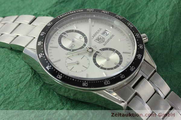 Used luxury watch Tag Heuer Carrera chronograph steel automatic Kal. 16 ETA 7750 Ref. CV2011-0  | 143001 15