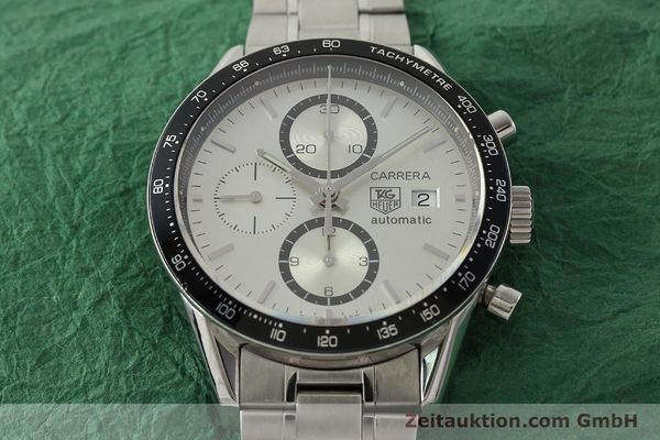 Used luxury watch Tag Heuer Carrera chronograph steel automatic Kal. 16 ETA 7750 Ref. CV2011-0  | 143001 16