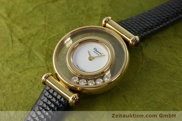 gebrauchte Luxusuhr Chopard Happy Diamonds 18k Gold Quarz Kal. ETA 201001 Ref. 20/4780-21  | 143002 01