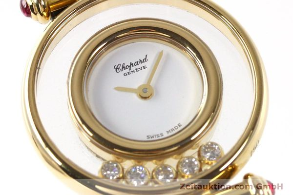 gebrauchte Luxusuhr Chopard Happy Diamonds 18k Gold Quarz Kal. ETA 201001 Ref. 20/4780-21  | 143002 02