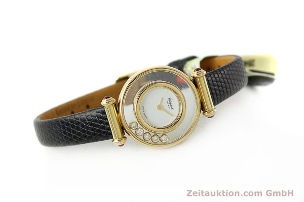 gebrauchte Luxusuhr Chopard Happy Diamonds 18k Gold Quarz Kal. ETA 201001 Ref. 20/4780-21  | 143002 03