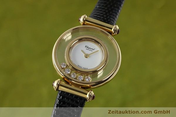 gebrauchte Luxusuhr Chopard Happy Diamonds 18k Gold Quarz Kal. ETA 201001 Ref. 20/4780-21  | 143002 04