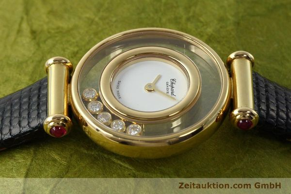 gebrauchte Luxusuhr Chopard Happy Diamonds 18k Gold Quarz Kal. ETA 201001 Ref. 20/4780-21  | 143002 05