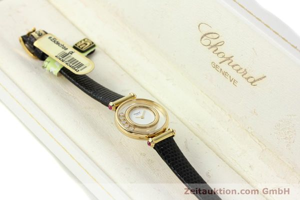 gebrauchte Luxusuhr Chopard Happy Diamonds 18k Gold Quarz Kal. ETA 201001 Ref. 20/4780-21  | 143002 07
