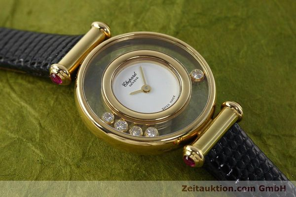 gebrauchte Luxusuhr Chopard Happy Diamonds 18k Gold Quarz Kal. ETA 201001 Ref. 20/4780-21  | 143002 13