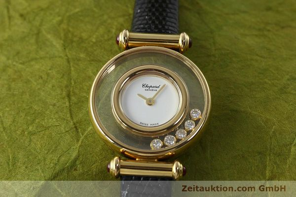gebrauchte Luxusuhr Chopard Happy Diamonds 18k Gold Quarz Kal. ETA 201001 Ref. 20/4780-21  | 143002 14