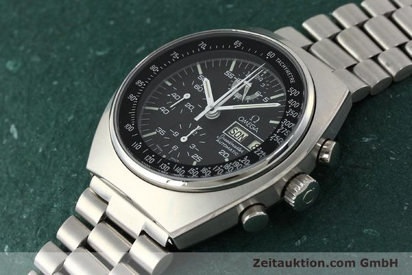 Used luxury watch Omega Speedmaster chronograph steel automatic Kal. 1045  | 143003 01