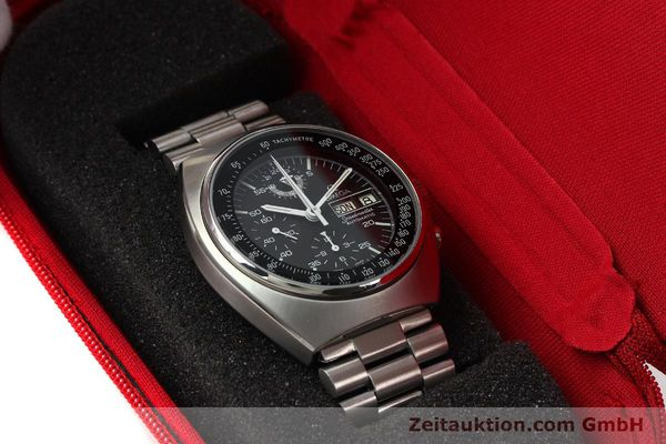 Used luxury watch Omega Speedmaster chronograph steel automatic Kal. 1045  | 143003 07