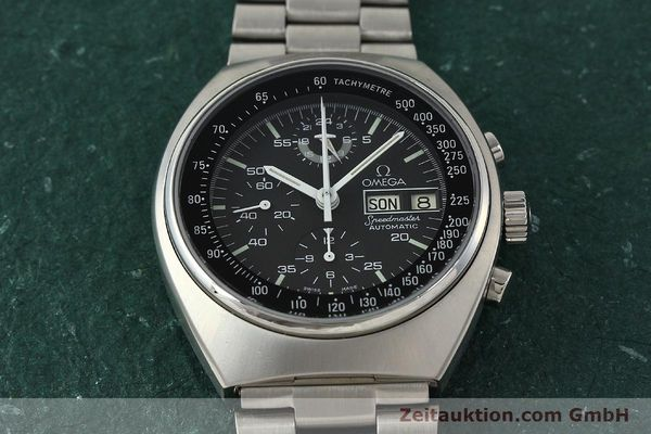 Used luxury watch Omega Speedmaster chronograph steel automatic Kal. 1045  | 143003 16