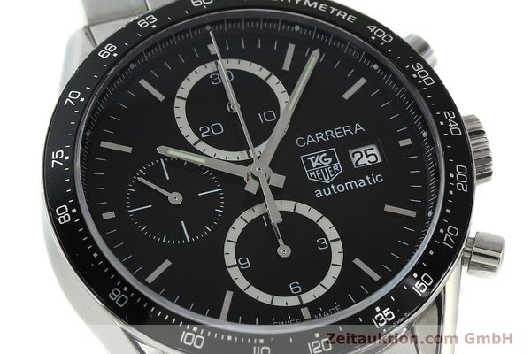 Used luxury watch Tag Heuer Carrera chronograph steel automatic Kal. 16 ETA 7750 Ref. CV2010-2  | 143005 02