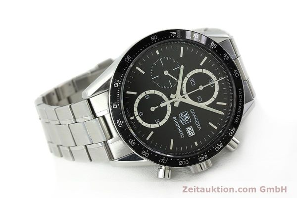 Used luxury watch Tag Heuer Carrera chronograph steel automatic Kal. 16 ETA 7750 Ref. CV2010-2  | 143005 03