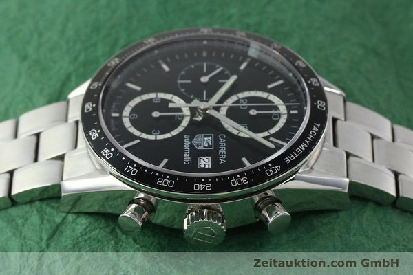 Used luxury watch Tag Heuer Carrera chronograph steel automatic Kal. 16 ETA 7750 Ref. CV2010-2  | 143005 05