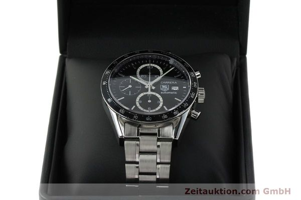 Used luxury watch Tag Heuer Carrera chronograph steel automatic Kal. 16 ETA 7750 Ref. CV2010-2  | 143005 07