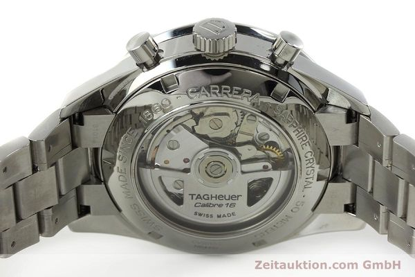 Used luxury watch Tag Heuer Carrera chronograph steel automatic Kal. 16 ETA 7750 Ref. CV2010-2  | 143005 09