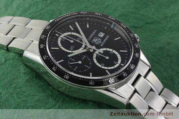 Used luxury watch Tag Heuer Carrera chronograph steel automatic Kal. 16 ETA 7750 Ref. CV2010-2  | 143005 14