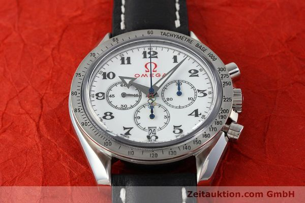 Used luxury watch Omega Speedmaster chronograph steel automatic Kal. 3313B Ref. 321.10.42.50.04.001 LIMITED EDITION | 143012 16
