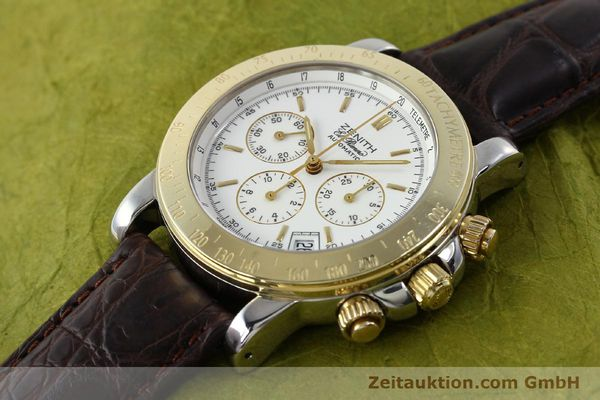 Used luxury watch Zenith Elprimero chronograph steel / gold automatic Kal. 400 Ref. 15/58-0460-400  | 143015 01