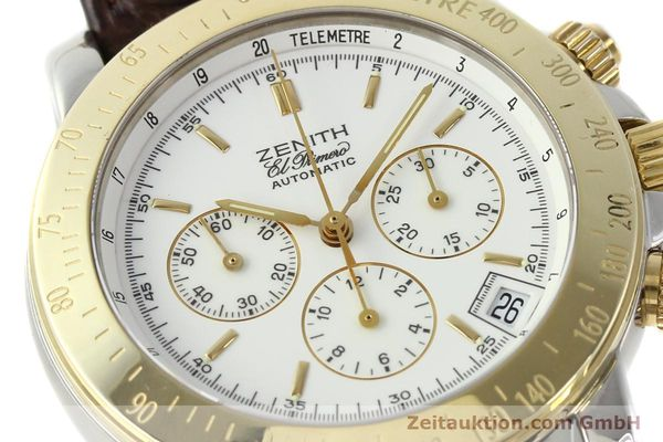 Used luxury watch Zenith Elprimero chronograph steel / gold automatic Kal. 400 Ref. 15/58-0460-400  | 143015 02