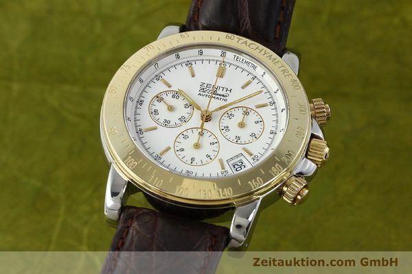 Used luxury watch Zenith Elprimero chronograph steel / gold automatic Kal. 400 Ref. 15/58-0460-400  | 143015 04