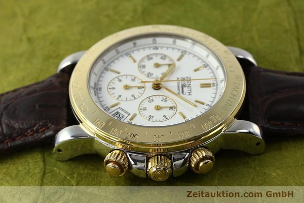 Used luxury watch Zenith Elprimero chronograph steel / gold automatic Kal. 400 Ref. 15/58-0460-400  | 143015 05