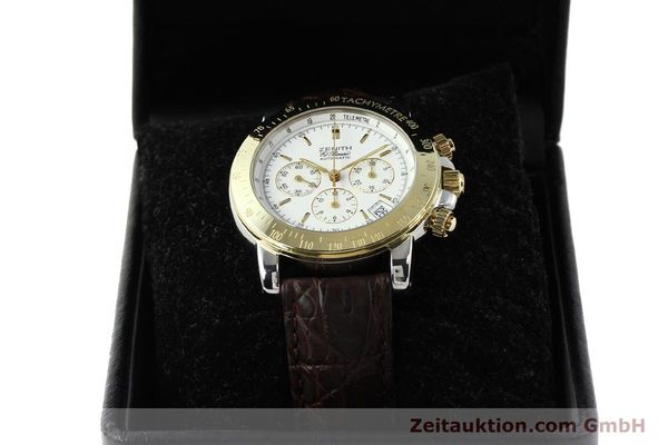 Used luxury watch Zenith Elprimero chronograph steel / gold automatic Kal. 400 Ref. 15/58-0460-400  | 143015 07
