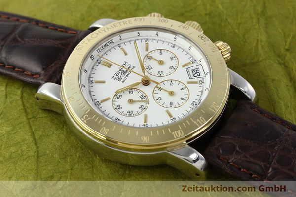 Used luxury watch Zenith Elprimero chronograph steel / gold automatic Kal. 400 Ref. 15/58-0460-400  | 143015 11