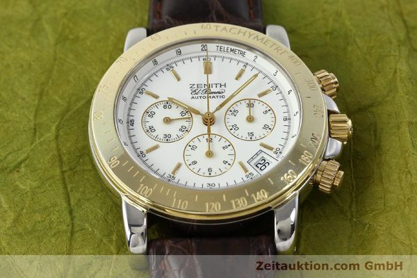 Used luxury watch Zenith Elprimero chronograph steel / gold automatic Kal. 400 Ref. 15/58-0460-400  | 143015 12