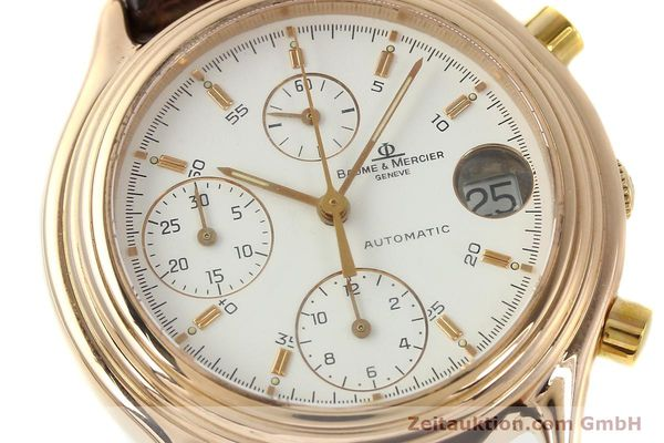 montre de luxe d occasion Baume & Mercier Baumatic chronographe or 18 ct automatique Kal. 13283A ETA 2892A2 Ref. MV045149  | 143019 02