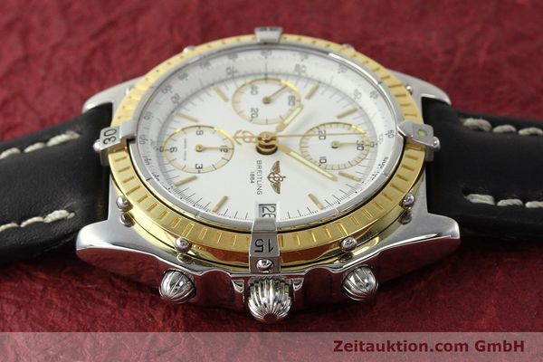 Used luxury watch Breitling Chronomat chronograph steel / gold automatic Kal. B13 ETA 7750 Ref. D13047  | 143020 05