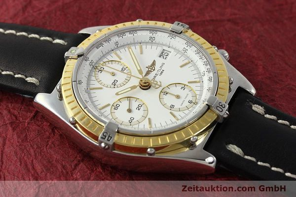 Used luxury watch Breitling Chronomat chronograph steel / gold automatic Kal. B13 ETA 7750 Ref. D13047  | 143020 14