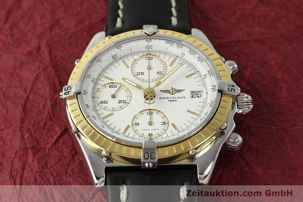 Used luxury watch Breitling Chronomat chronograph steel / gold automatic Kal. B13 ETA 7750 Ref. D13047  | 143020 15