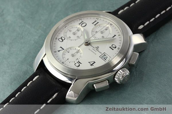 Used luxury watch Baume & Mercier Capeland chronograph steel automatic Kal. BM13750 ETA 7750 Ref. MV045216  | 143023 01