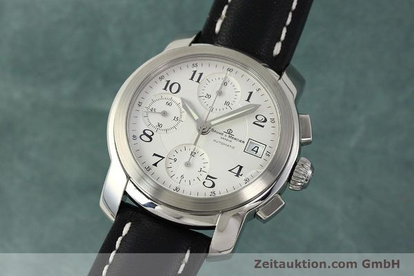 Used luxury watch Baume & Mercier Capeland chronograph steel automatic Kal. BM13750 ETA 7750 Ref. MV045216  | 143023 04
