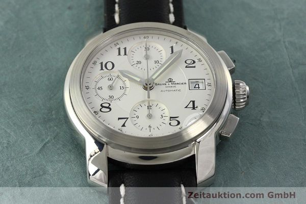 Used luxury watch Baume & Mercier Capeland chronograph steel automatic Kal. BM13750 ETA 7750 Ref. MV045216  | 143023 14