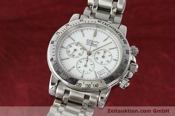 Used luxury watch Zenith Elprimero chronograph steel automatic Kal. 400 Ref. 02.0360.400  | 143031 04