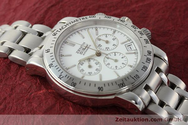Used luxury watch Zenith Elprimero chronograph steel automatic Kal. 400 Ref. 02.0360.400  | 143031 14
