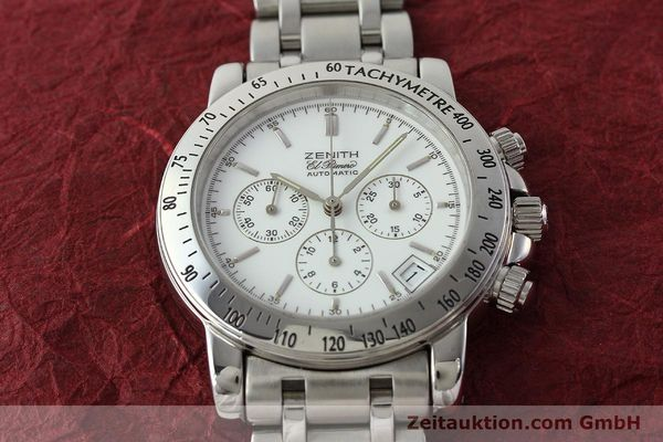 Used luxury watch Zenith Elprimero chronograph steel automatic Kal. 400 Ref. 02.0360.400  | 143031 15