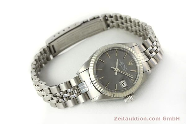 Used luxury watch Rolex Lady Date steel / white gold automatic Kal. 2030 Ref. 6917  | 143034 03